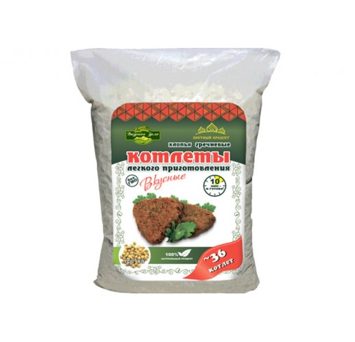 Buckwheat cutlets, 500 g