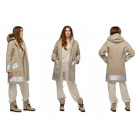 "Hemp coat ""Silver dream"""