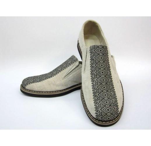 """Hemp shoes """"Comfort-black-rubber"""""""
