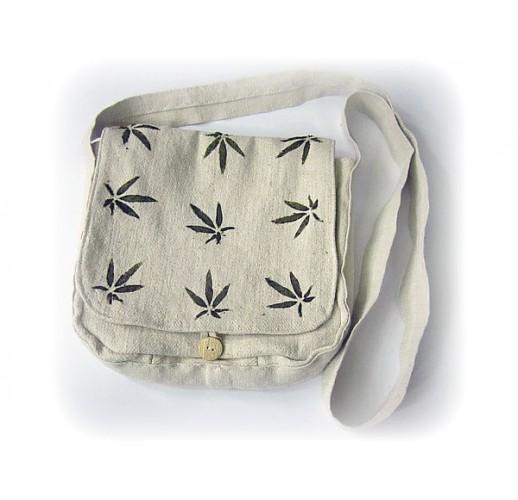 """Handbag """"Hemp leaves"""""""
