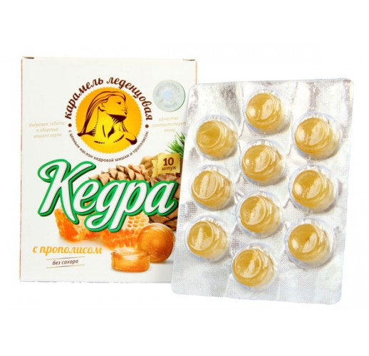 Kedra throat lozenges (RCOR) / propolis