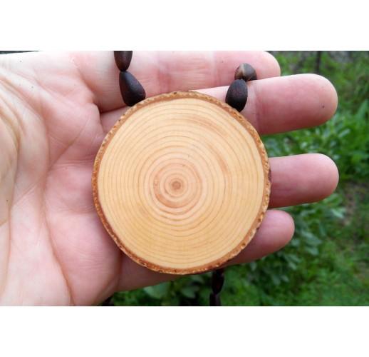 Cedar pendant on cedar nuts (XL)