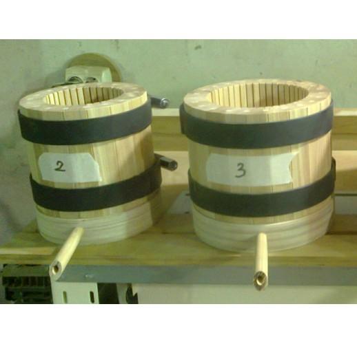 Wooden press-barrel, 2 litres