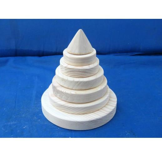 Pyramid of rings