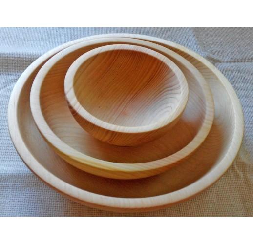 Set of 3 cedar bowls (10-15-20 cm)