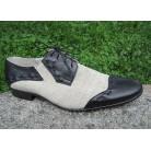 "Hemp shoes ""Silver-black"""