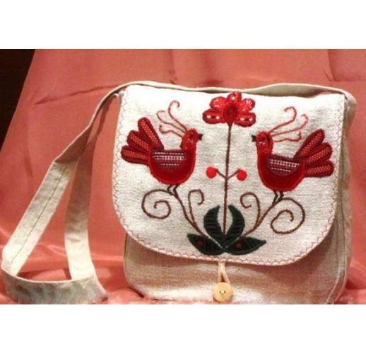 """Handbag """"Singing birds""""-1"""