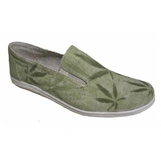 "Hemp shoes ""Steve-leaves"""