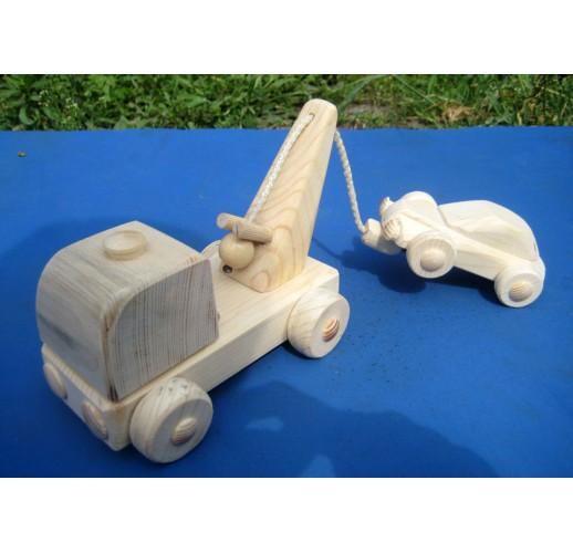Tow truck & car