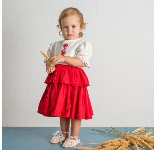 Russian style dress for baby-girl