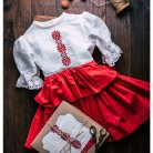Linen Russian style dress for girl