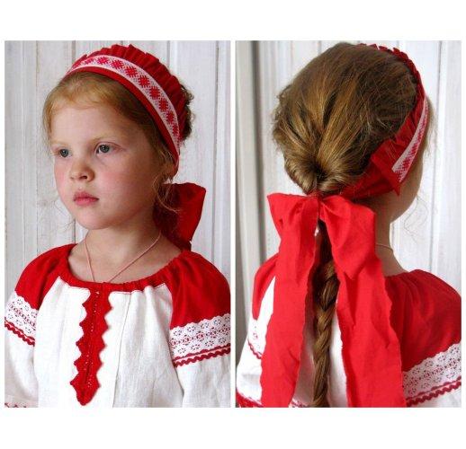 Traditional Russian dress-shirt for girl