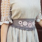 Slavic dress with crocheted sleeves