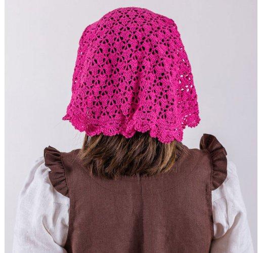 Crocheted headscarf