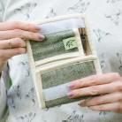 "Hemp wallet ""Beny-blue"""