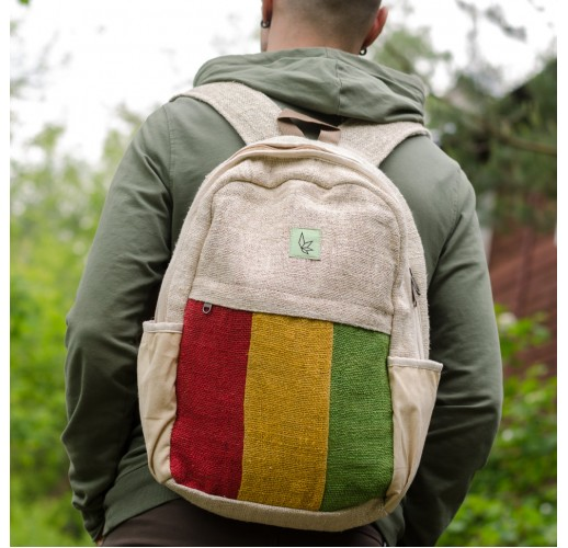 "Hemp backpack ""Rasta"""