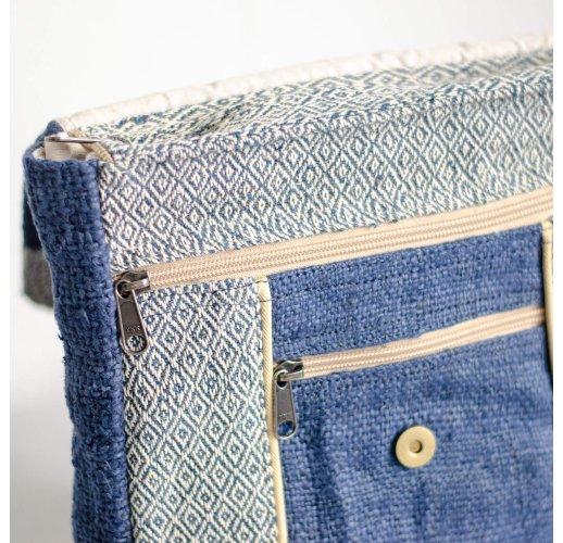 Hemp backpack Svayambu-blue