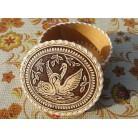 "Jewellery box ""Swans"""