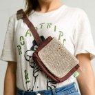 Hemp bum bag Chatrapati-brown