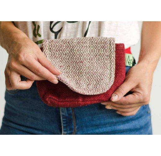 Hemp bum bag Chatrapati-red