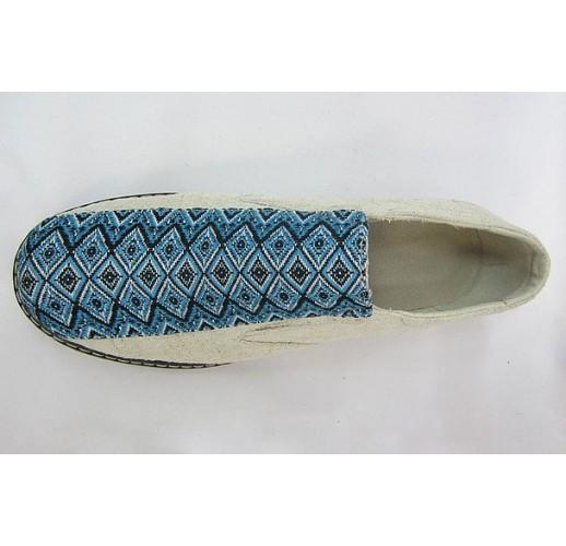 "Hemp shoes ""Comfort-blue-rubber"""