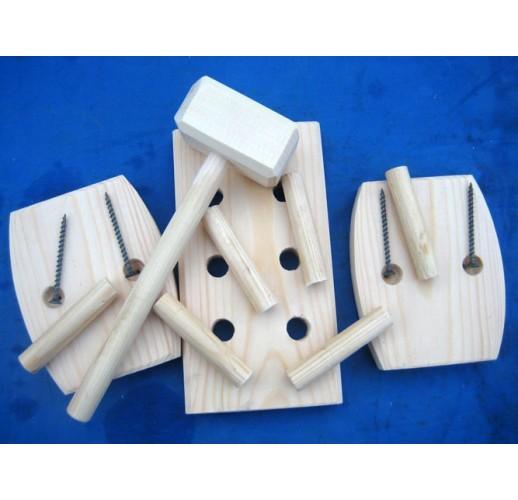 Hammer/nails play set