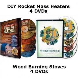 Better Wood Heat: DIY Rocket Mass Heaters, 8-DVD (download)