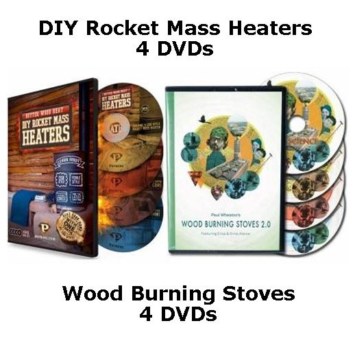Better Wood Heat: DIY Rocket Mass Heaters, 8-DVD (download)