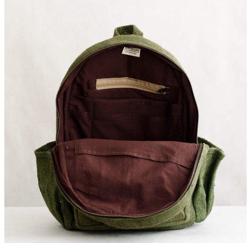 Hemp backpack Patan-green