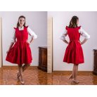 Russian style dress red