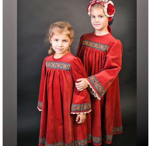 Russian style dress for girl