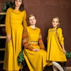 Russian style winter dress