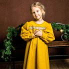 Russian style winter dress for girl