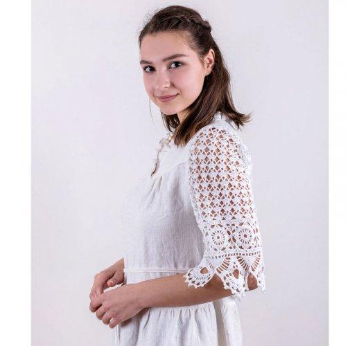 Linen wedding dress