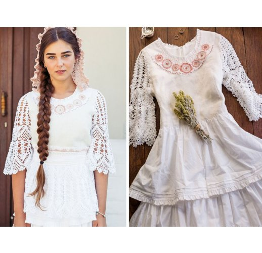 Linen wedding dress boho